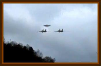 Military Jets Escort UFO To Secret Base