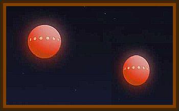 2 Orange Spheres