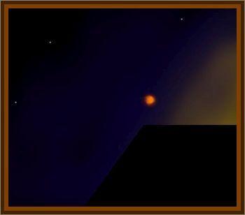 Golden Orange Glowing Ball